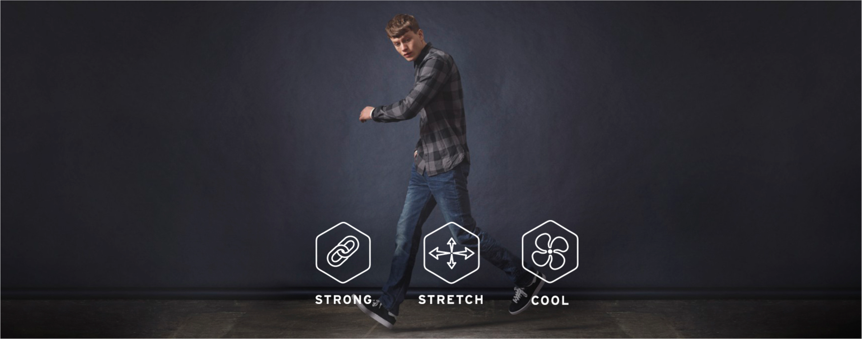performance strong stretch cool denim levi's