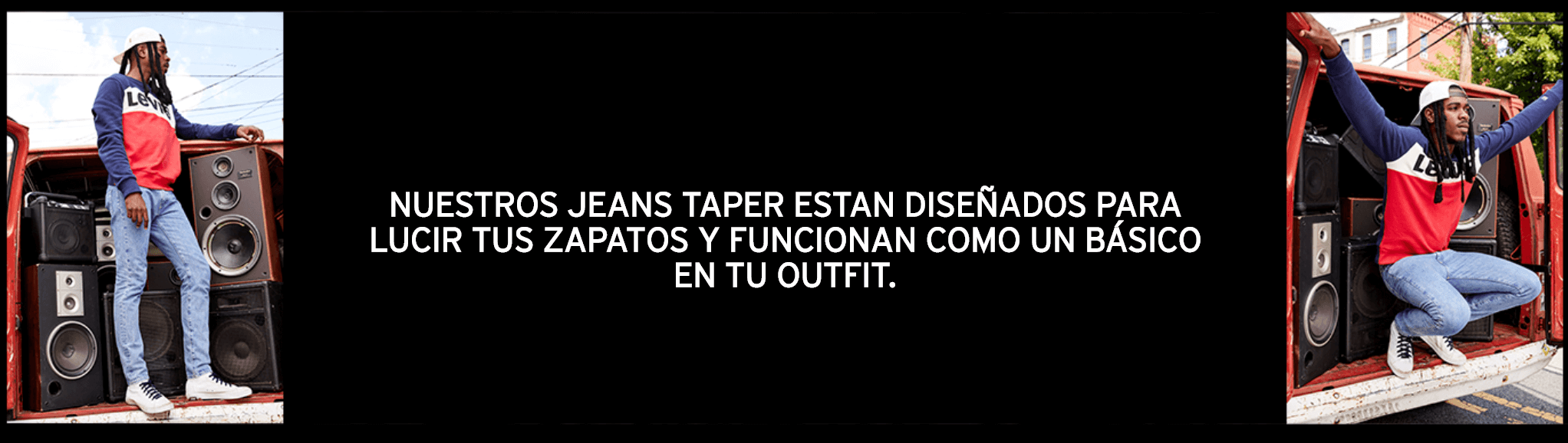 nuestros jeans taper estan diseñados para